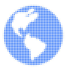 earth halftone icon vector image