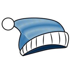 Fashion beanie winter hat vector