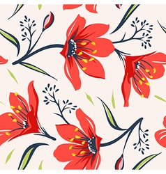 Floral seamless pattern 5 vector image