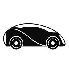 Futuristic driverless car icon simple style vector