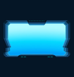Futuristic window view vector