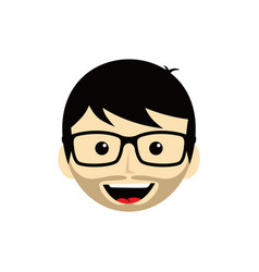 Geek cartoon expression face male guy man art vector