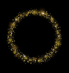 gold glitter design on black background vector image