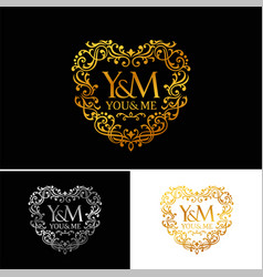 Golden luxury logo template vector
