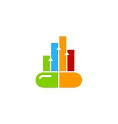 Graph medicine logo icon design vector