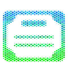 Halftone blue-green license icon vector