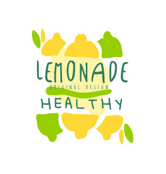healthy lemonade healthy original design logo vector image