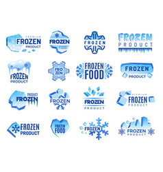 Ice product logo frozen food business identity vector