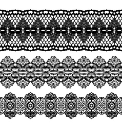 Lacy vintage trims vector