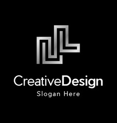Letter ll creative business logo design vector