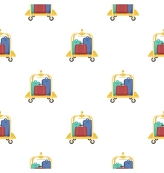 Luggage cart icon in cartoon style isolated on vector
