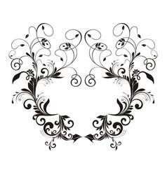 Luxury floral decorative logo hotel restaurant vector