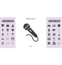 microphone symbol icon - graphic elements for your vector image
