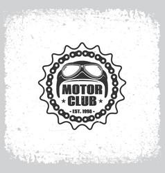 motor club vector image