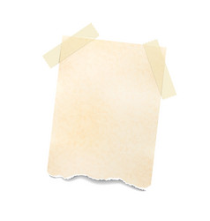 Notes paper sheet attached with adhesive tape vector