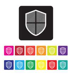 Online protection icon vector