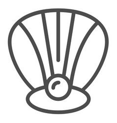 Perl in a shell line icon clam vector