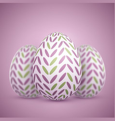 Photorealistic easter egg set vector