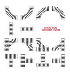railroad tracks construction elements vector image
