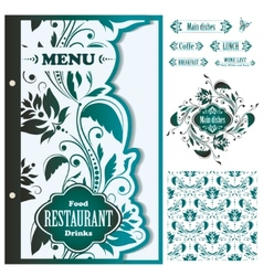 Restaurant menu design template - vector image