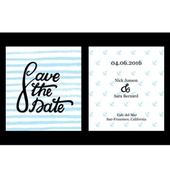 Save the date invitation card design vector image