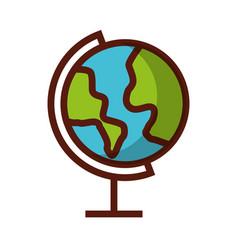 shadow world map cartoon vector image