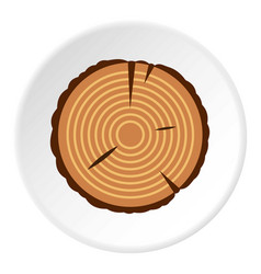 Stump icon circle vector