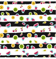 summer fruits patterns vector image