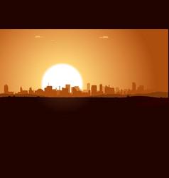 Sunrise urban landscape vector