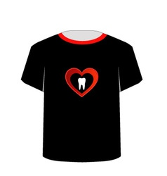 T Shirt Template- Sweet tooth vector image