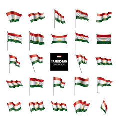 tajikistan flag on a white vector image