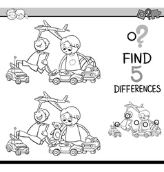 Task of differences coloring book vector