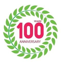 Template Logo 100 Anniversary in Laurel Wreath vector