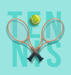 Tennis club racket cross ball game competition vector