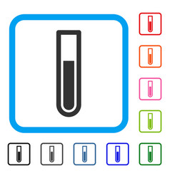Test tube framed icon vector