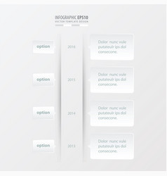 timeline template white color vector image
