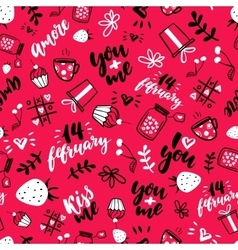 Valentine s Day seamless pattern Isolated vector