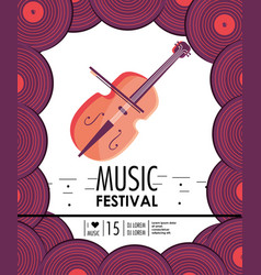 violin instrument to music festival celebration vector image