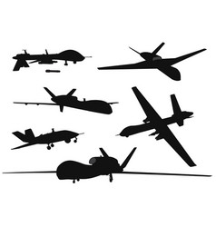 Weapon drones set vector