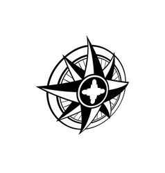 windrose perspective symbol vector image