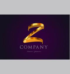 Z gold golden alphabet letter logo icon design vector