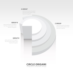 Business Infographics circle origami style white vector image vector image