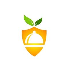 eco food protection vegetarian logo vector image vector image