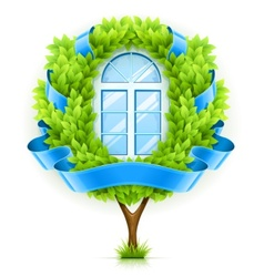 Ecological window concept vector image vector image