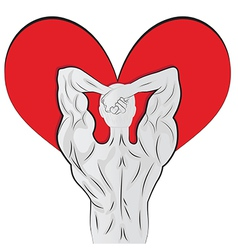 Man body shaped as heart for valentine day vector image