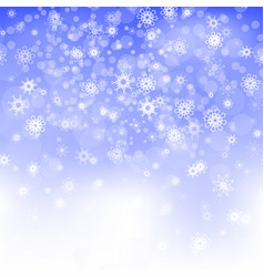 show flakes winter christmas blurred texture vector image vector image