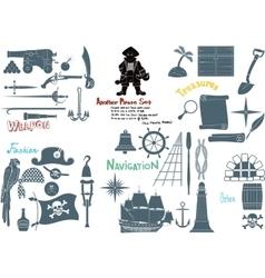 Big Pirate Set vector image