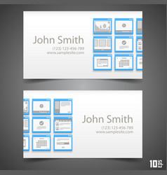 flat windows frame calling card vector image vector image