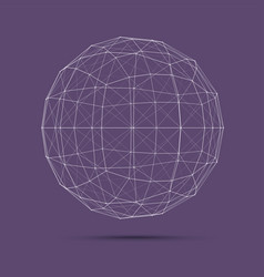 geometric wire mesh sphere vector image
