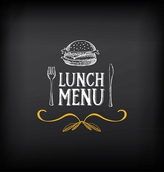 Lunch menu logo and badge design vector image vector image